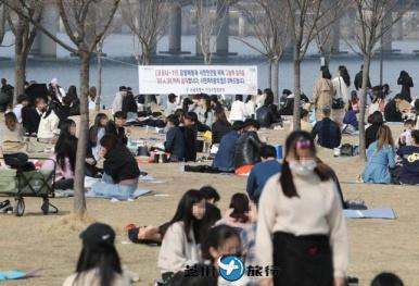 韩国居民3月底游园次数大增